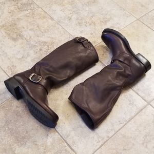 Frye Shoes - NEW FRYE Leather Brown Knee High NWT Buckle BOOTS